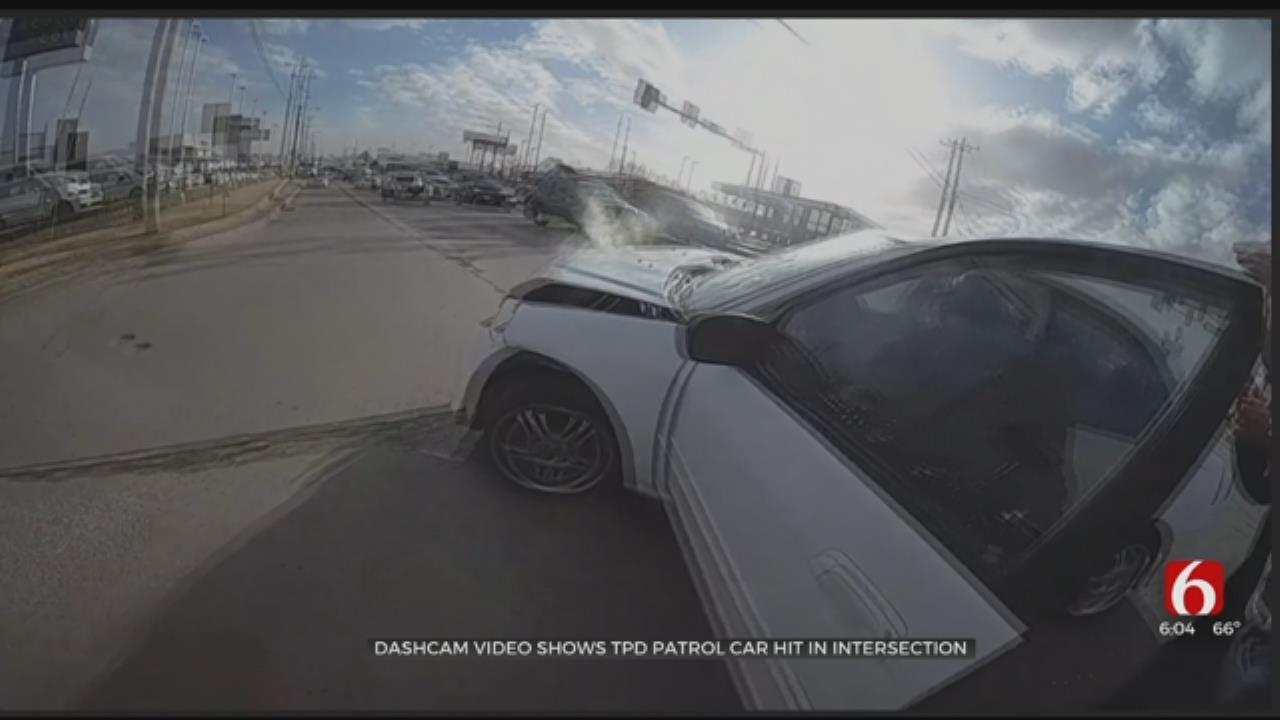 Dashcam Video Released In Tulsa Officer-Involved Crash