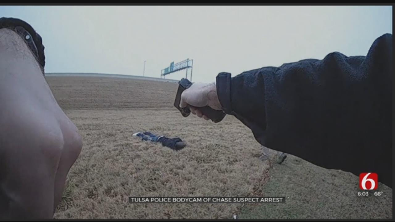 Bodycam Video Released From Tulsa Police Chase