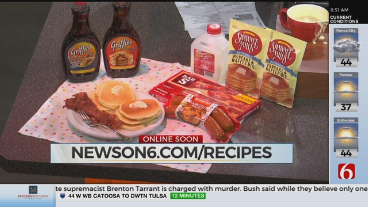 Made In Oklahoma Bacon Pancakes