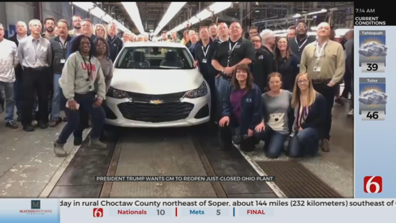 Trump Calls GM's CEO In Push To Reopen Ohio Auto Plant