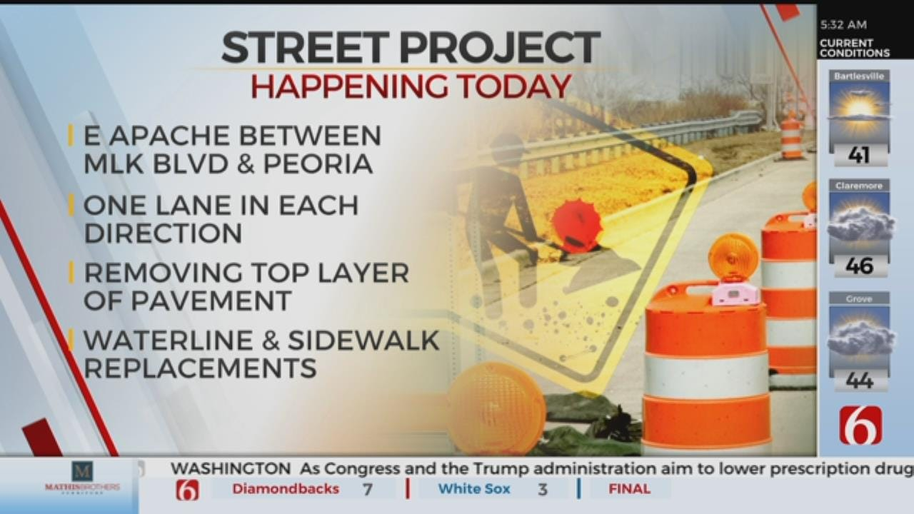Apache Street Rehab Project Starts