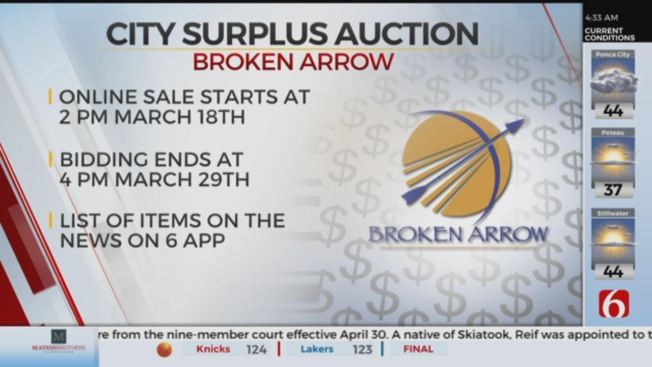 Broken Arrow Holds Online Surplus Auction