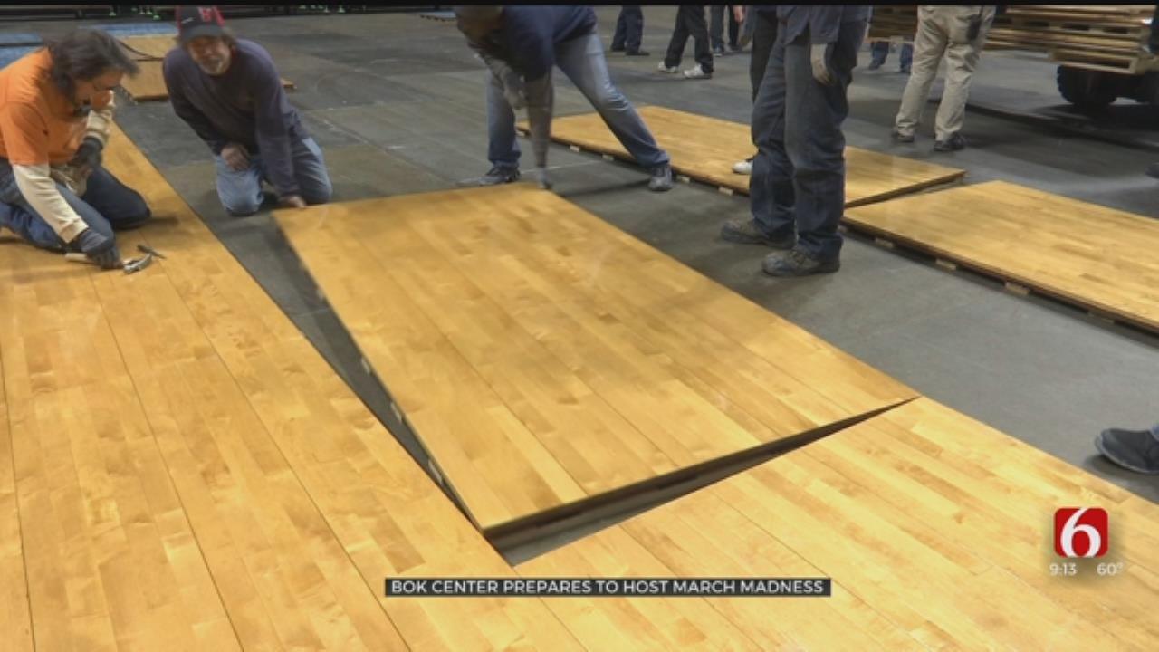 BOK Center Hard At Work Ahead Of NCAA Tournament