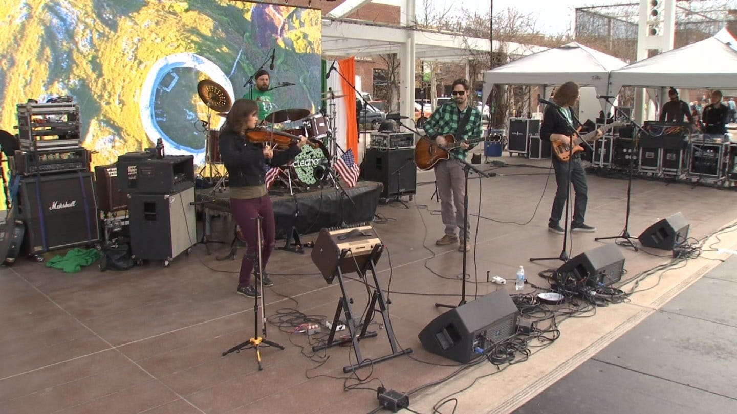 Guthrie Green Prepares For Day 2 Of 2019 Irish Festival