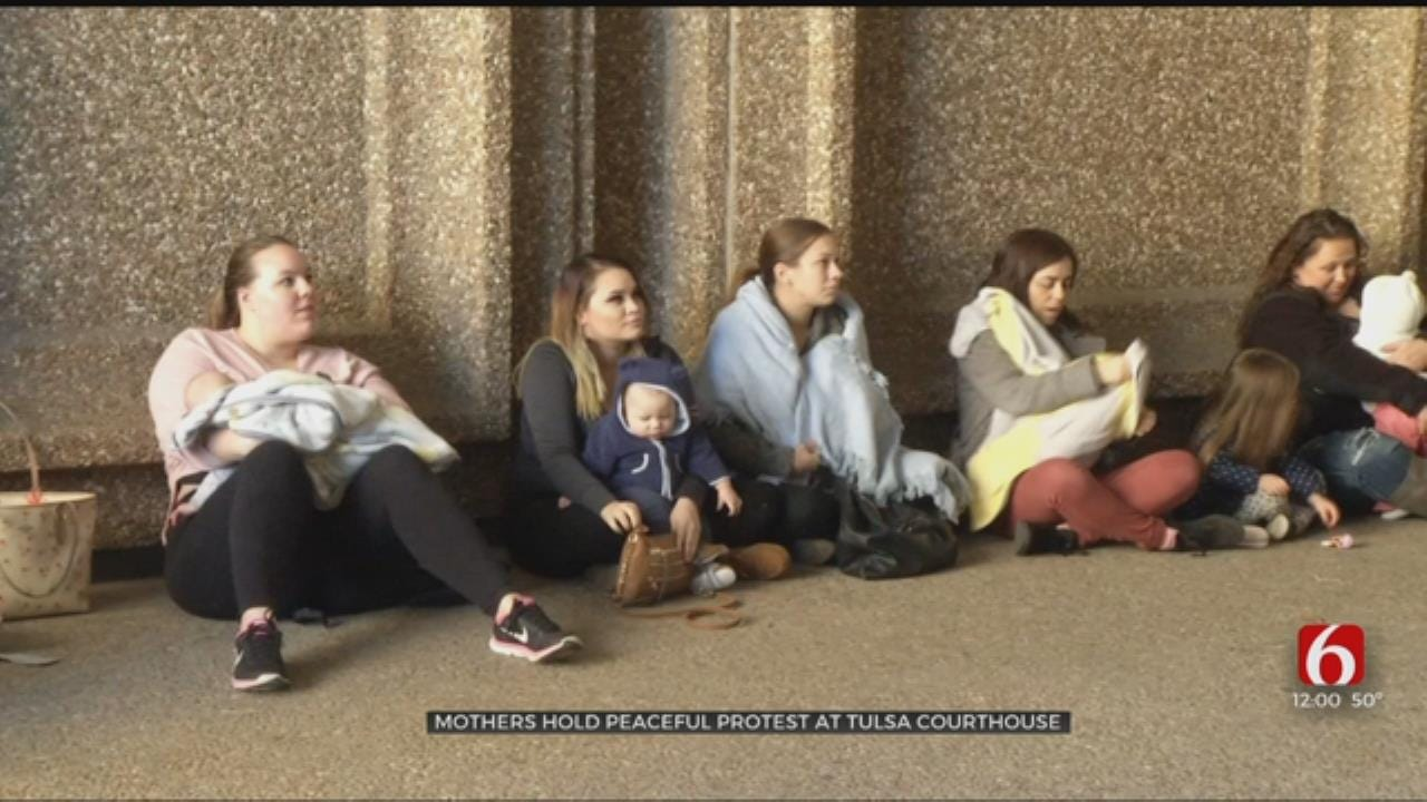 Mothers Hold Peaceful Protest At Tulsa Municipal Courthouse