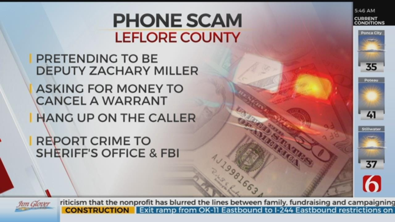 LeFlore County Sheriff Warns Residents Of Phone