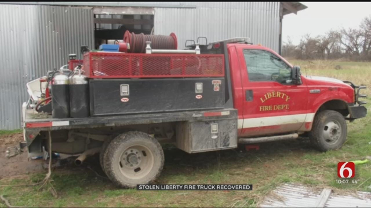 Wagoner County Deputy Finds Stolen Liberty Fire Truck