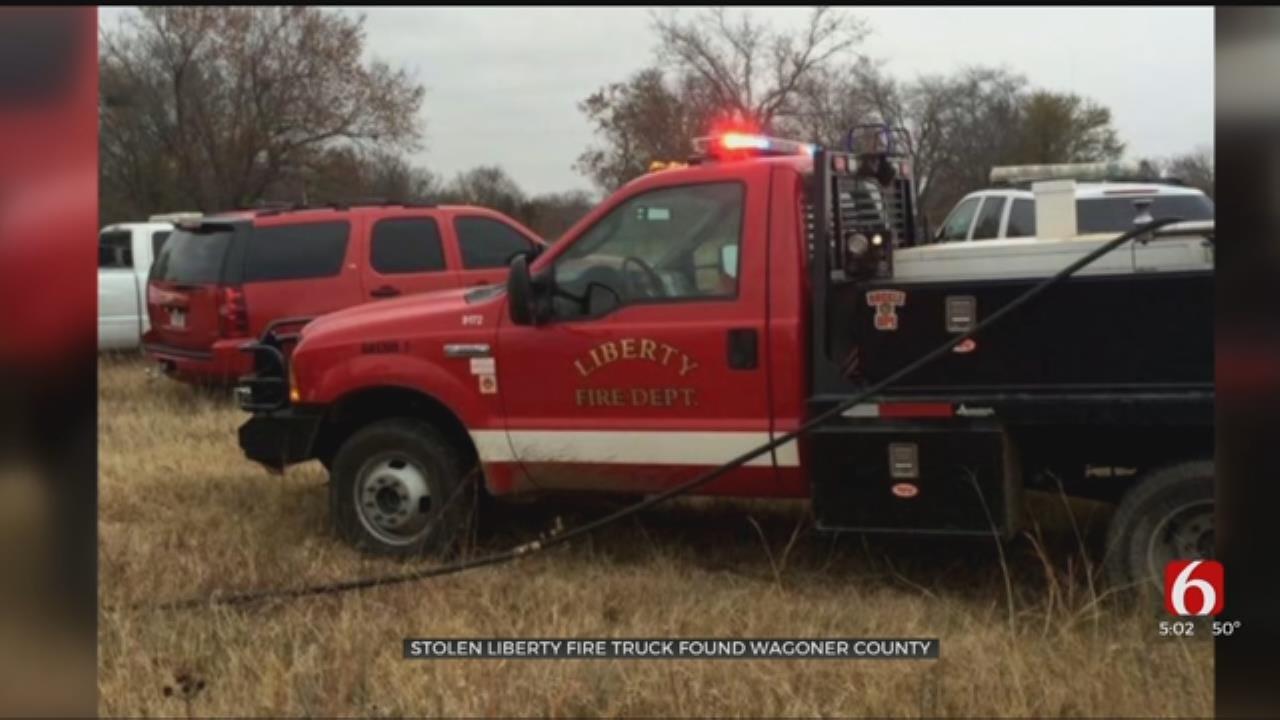 Firetruck Stolen From Liberty Volunteer Fire Department Found