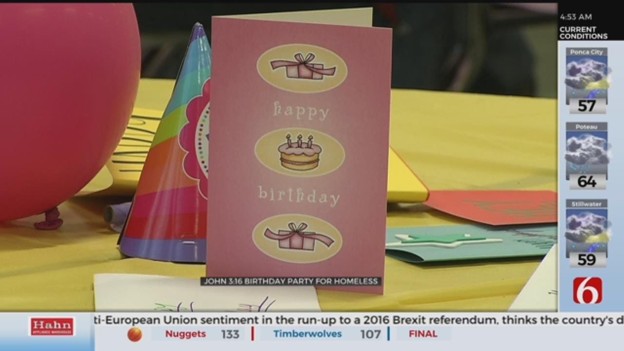 John 3:16 Mission Holds Birthday Party For Homeless