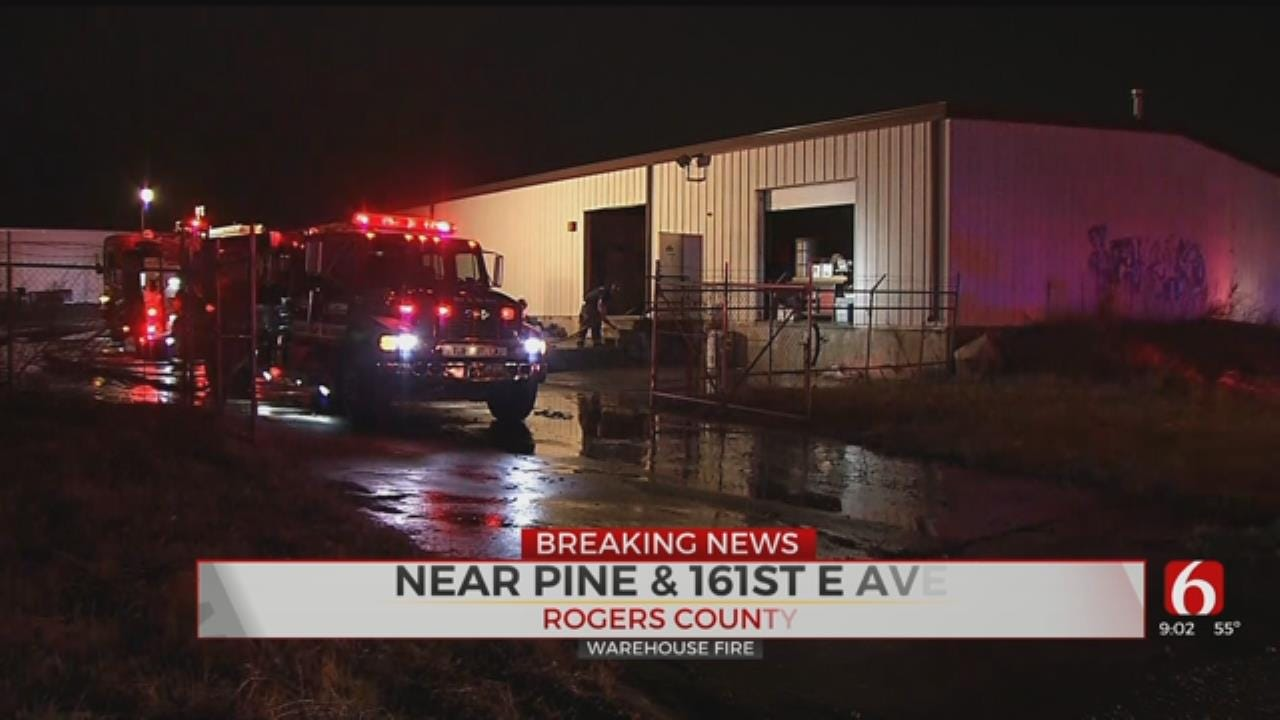 Cause Of Rogers County Industrial Fire Under Investigation