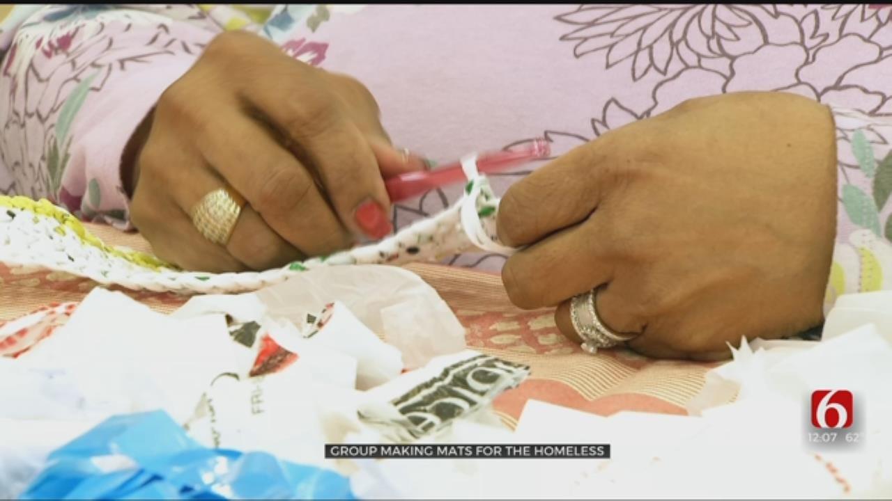 Tulsa Church Reuses Plastic Bags To Help Homeless