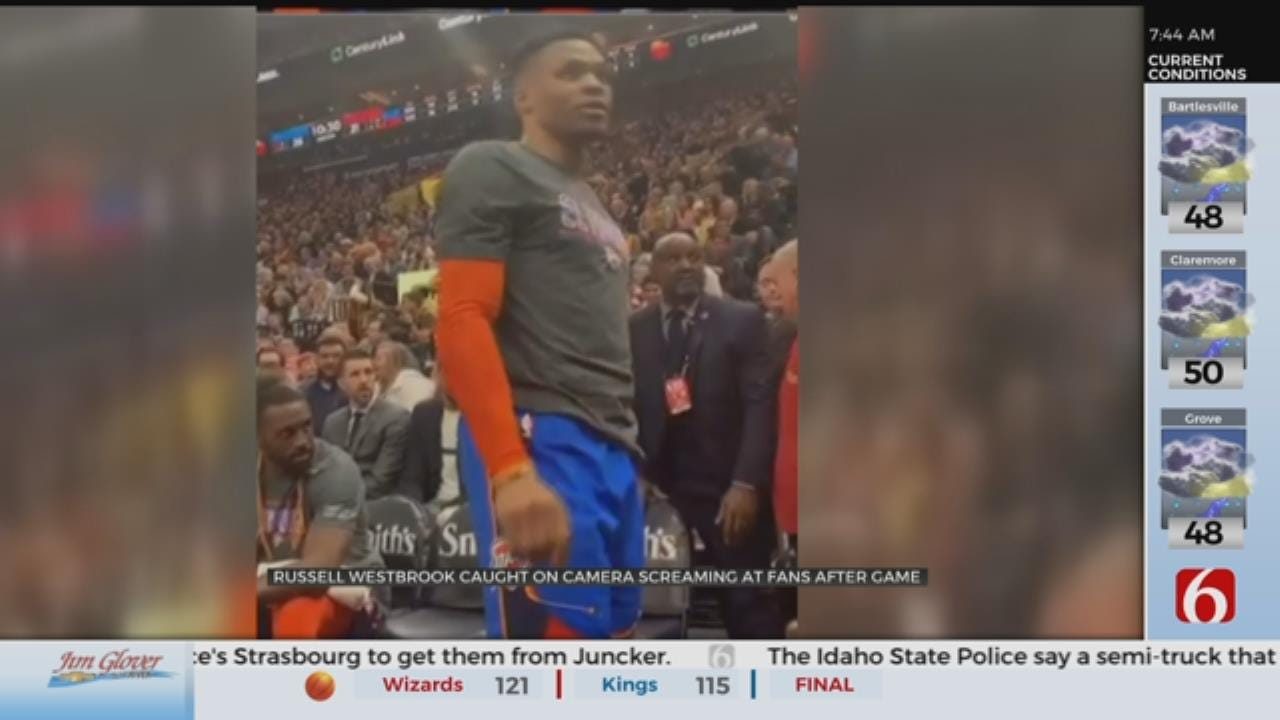 Westbrook Gets Into Verbal Altercation With Utah Jazz Fans