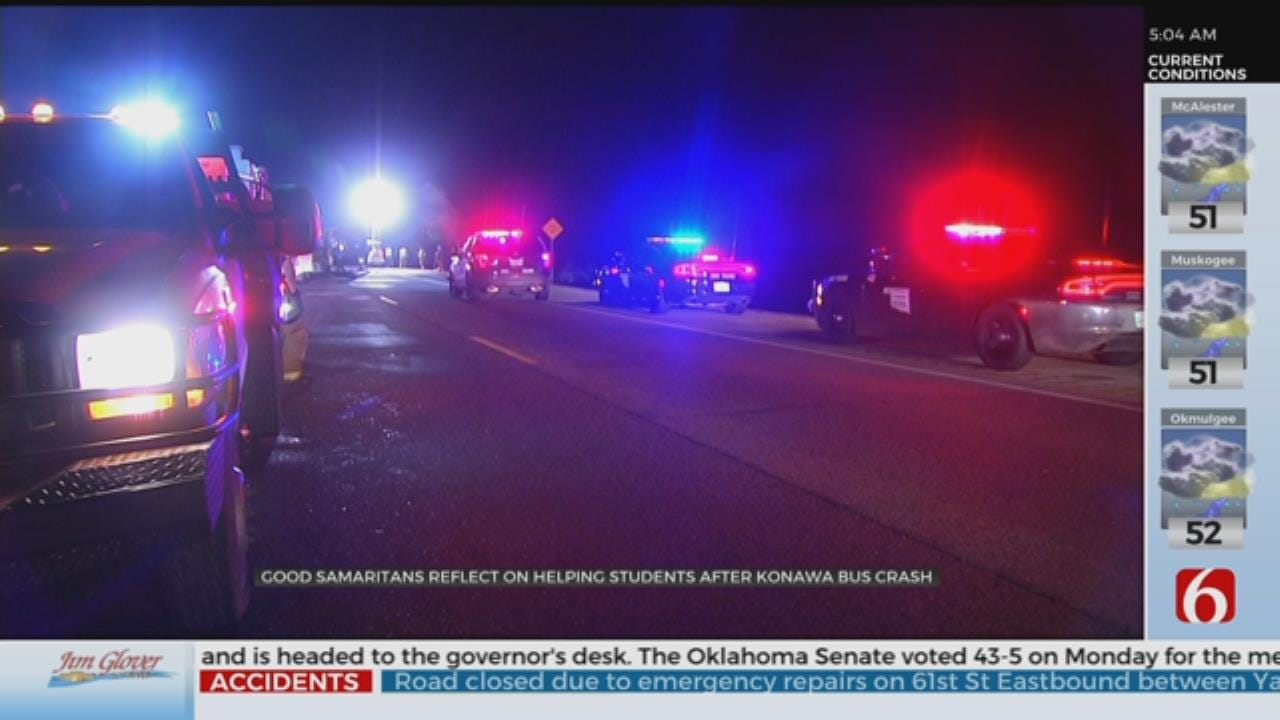 Witnesses Help Rescue Students In Fatal SUV, Konawa Bus Crash