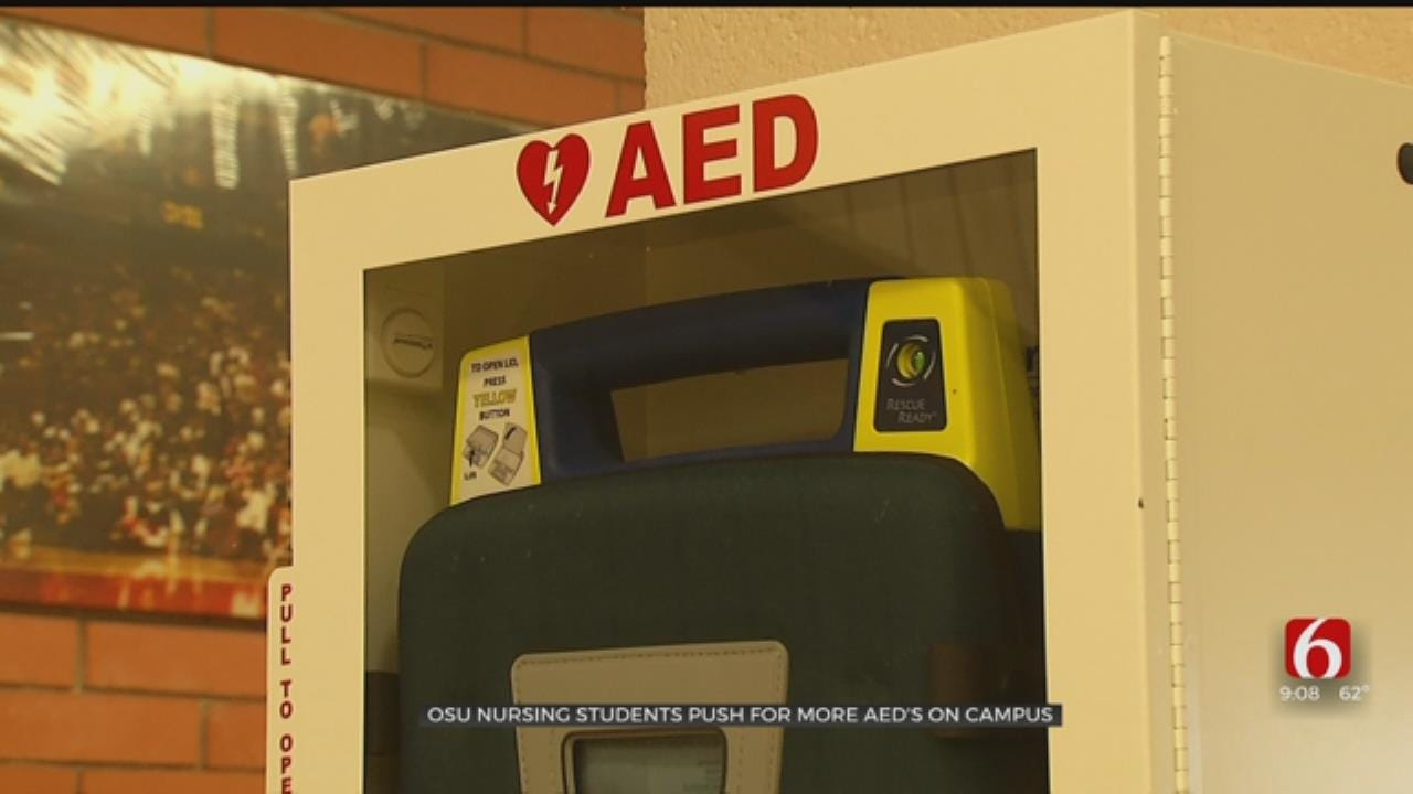 OSU Nursing Students Push For More AEDs On Campus