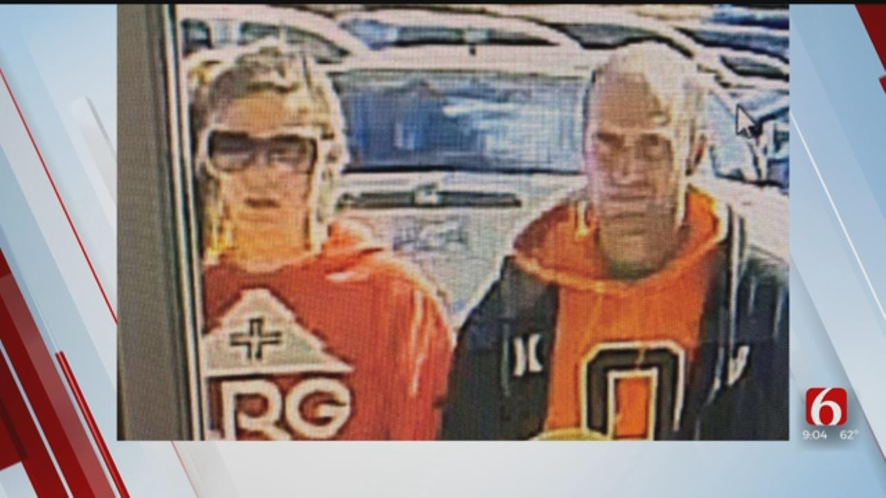 Tulsa Police Searching For 2 People Connected To Burglary Case