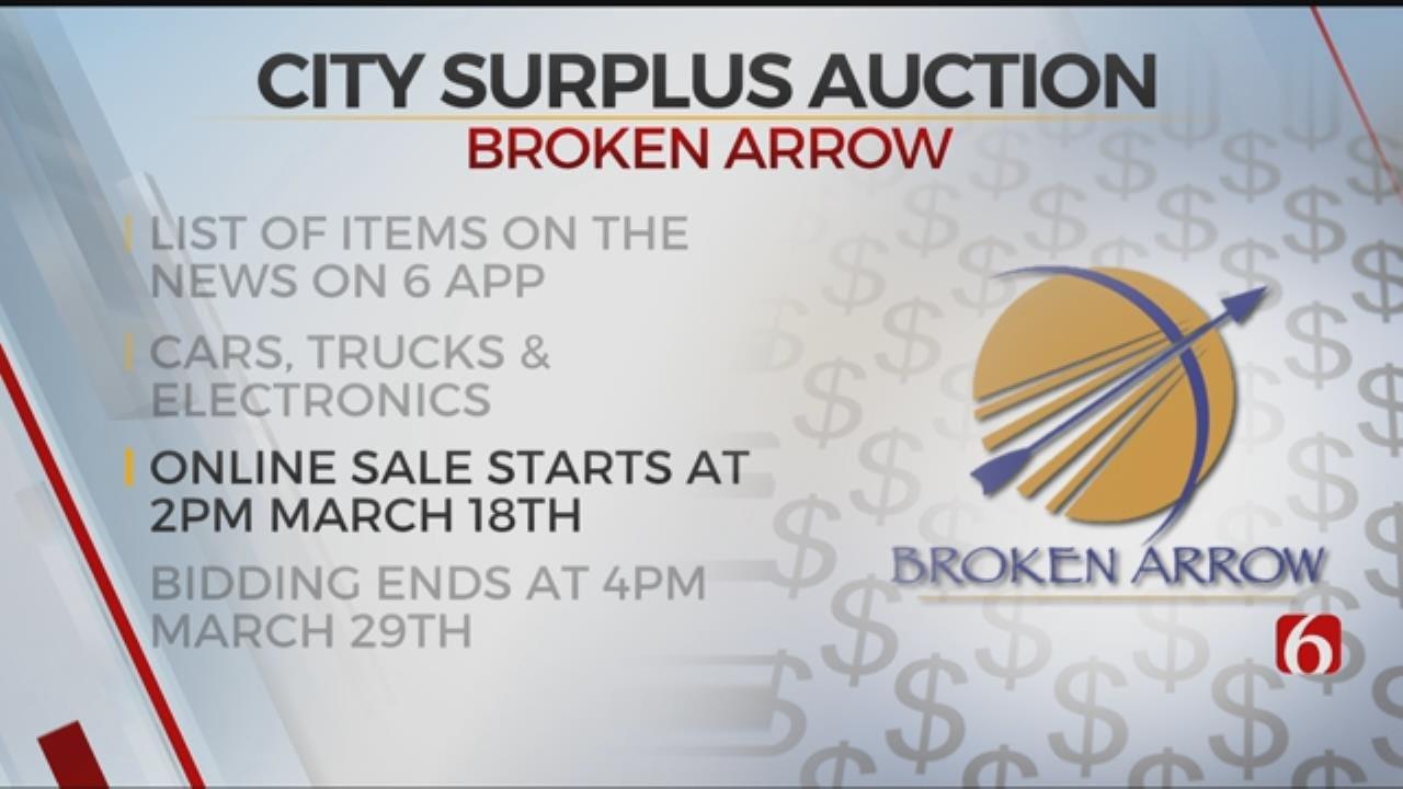 City Of Broken Arrow Will Sell Surplus Equipment In Online Auction