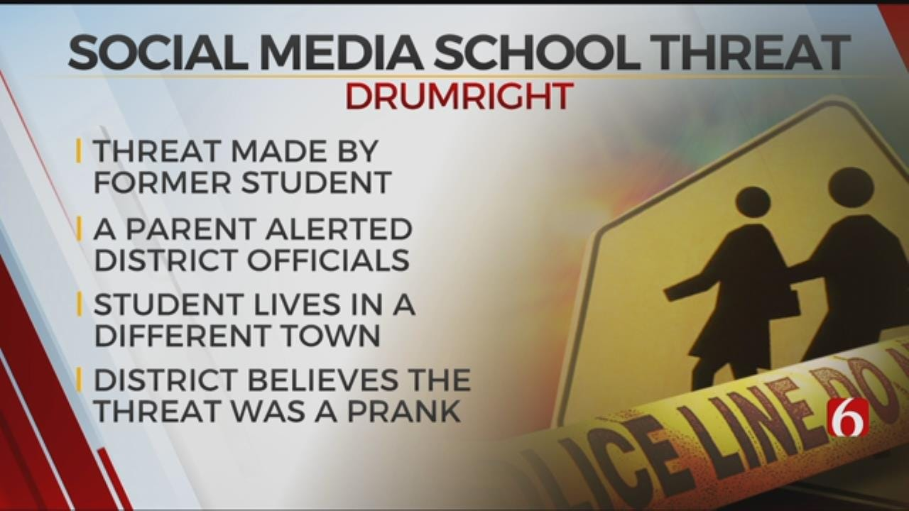Police Respond To Drumright Schools After Social Media Threat