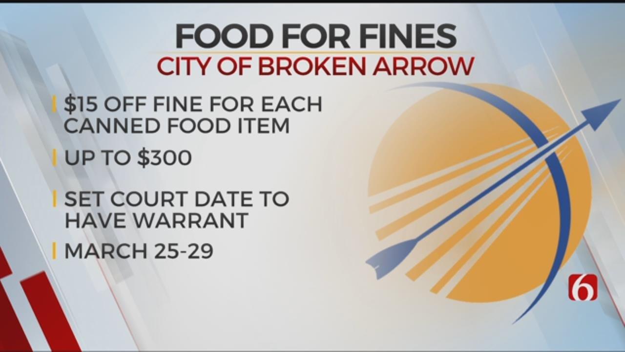 Broken Arrow Offering 'Food For Fines' Program