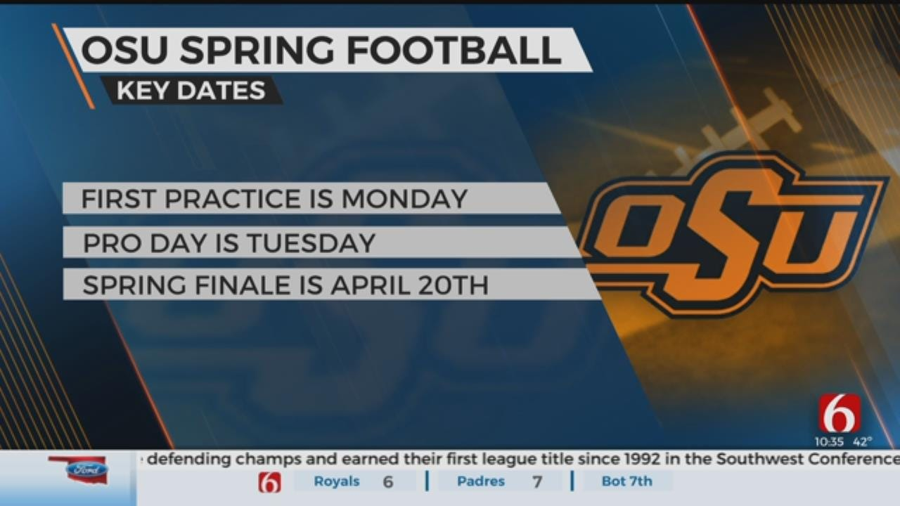 Spring Practice Starts Monday For OSU Cowboys