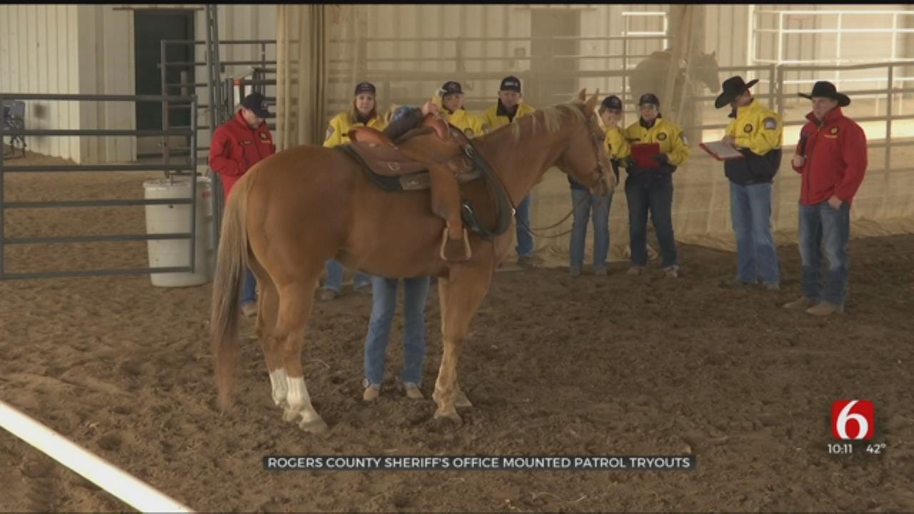 Rogers County Sheriff's Office Holds Mounted Patrol Tryouts