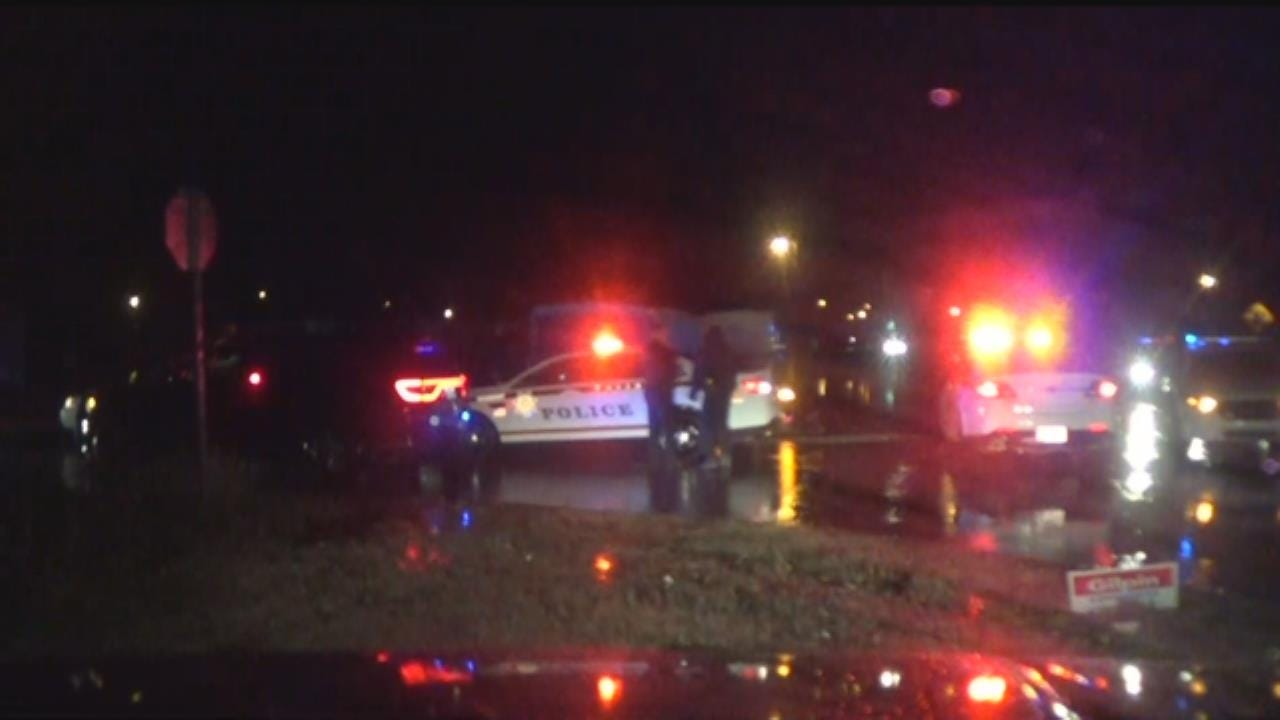 WATCH: Catoosa Police Rescue Driver From High Water
