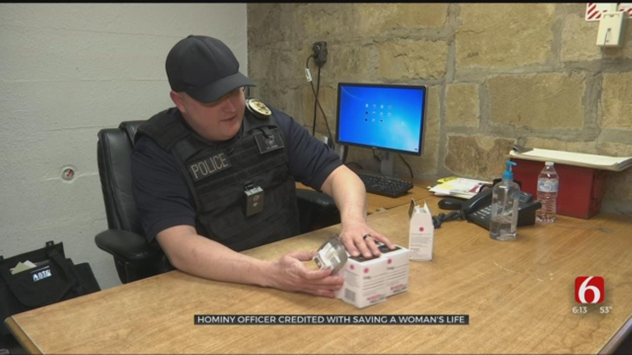 Hominy Officer Recognized For Saving Woman From Overdose