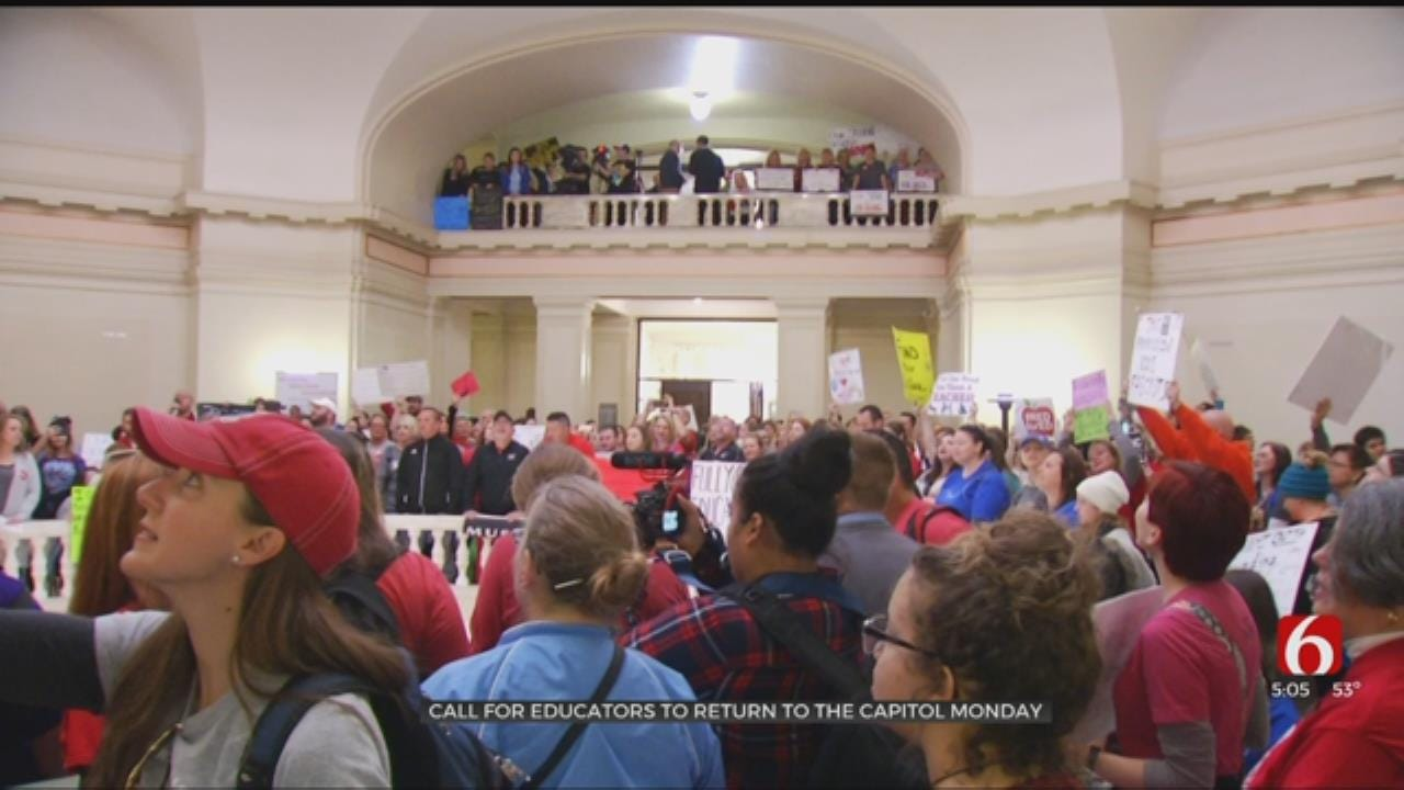 Educators Called To Return To The Capitol Monday