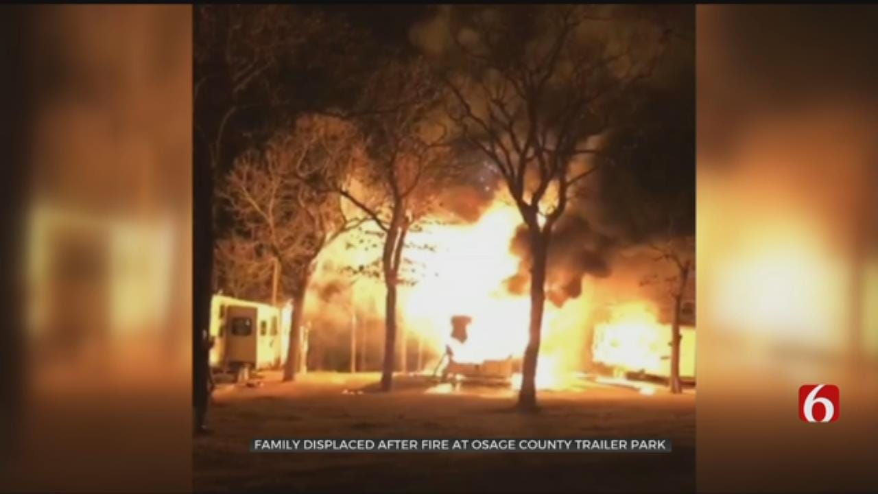 Fire Destroys RV Trailer, Damages Others In Osage County
