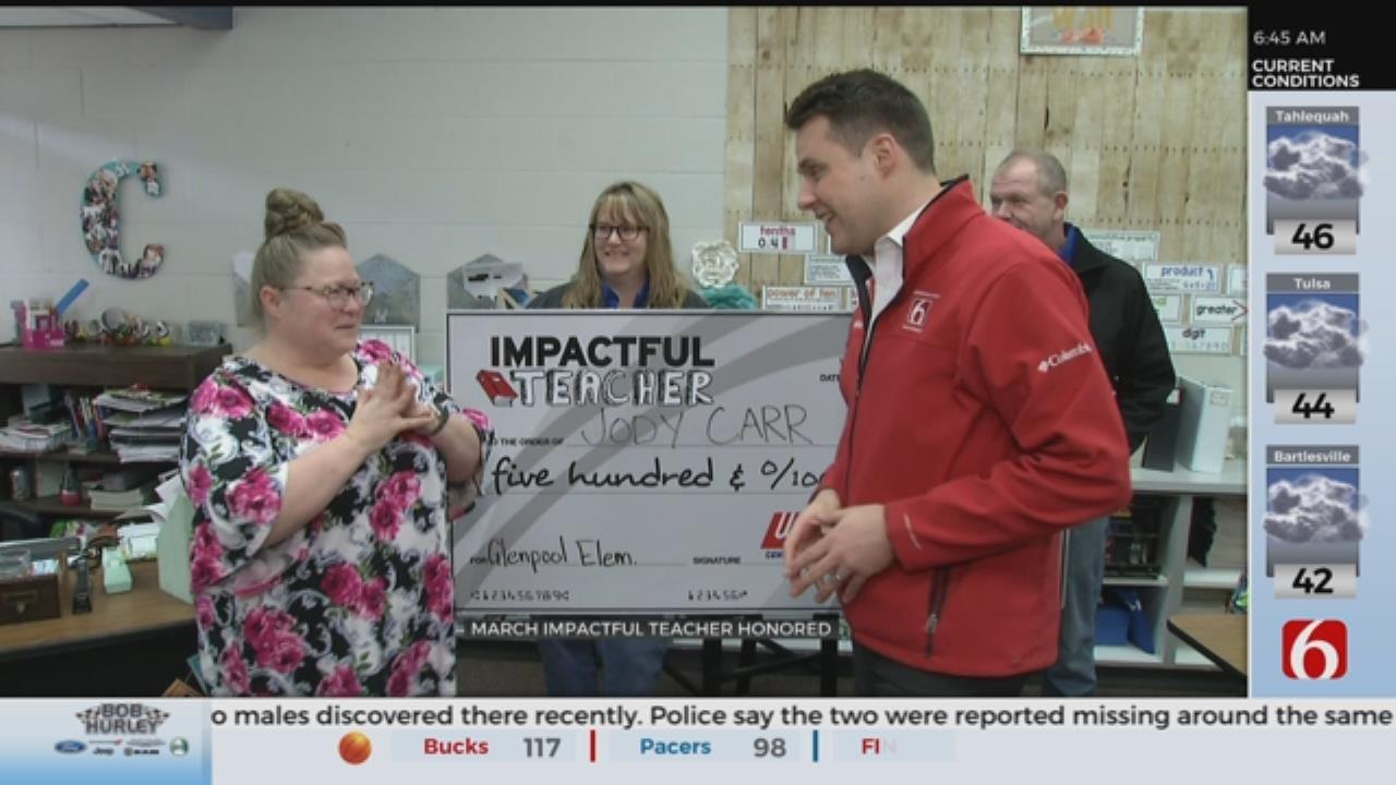 Glenpool Educator Honored As 'Impactful Teacher'