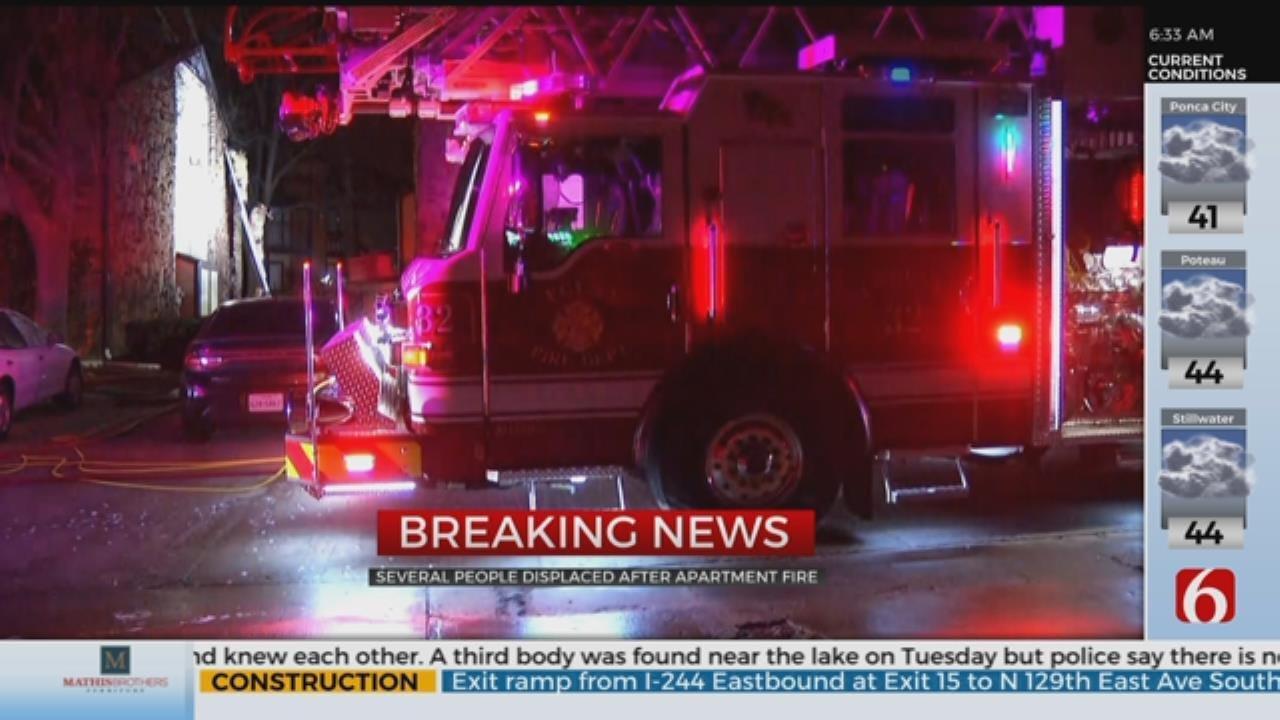 Fire Damages Tulsa Apartment Complex