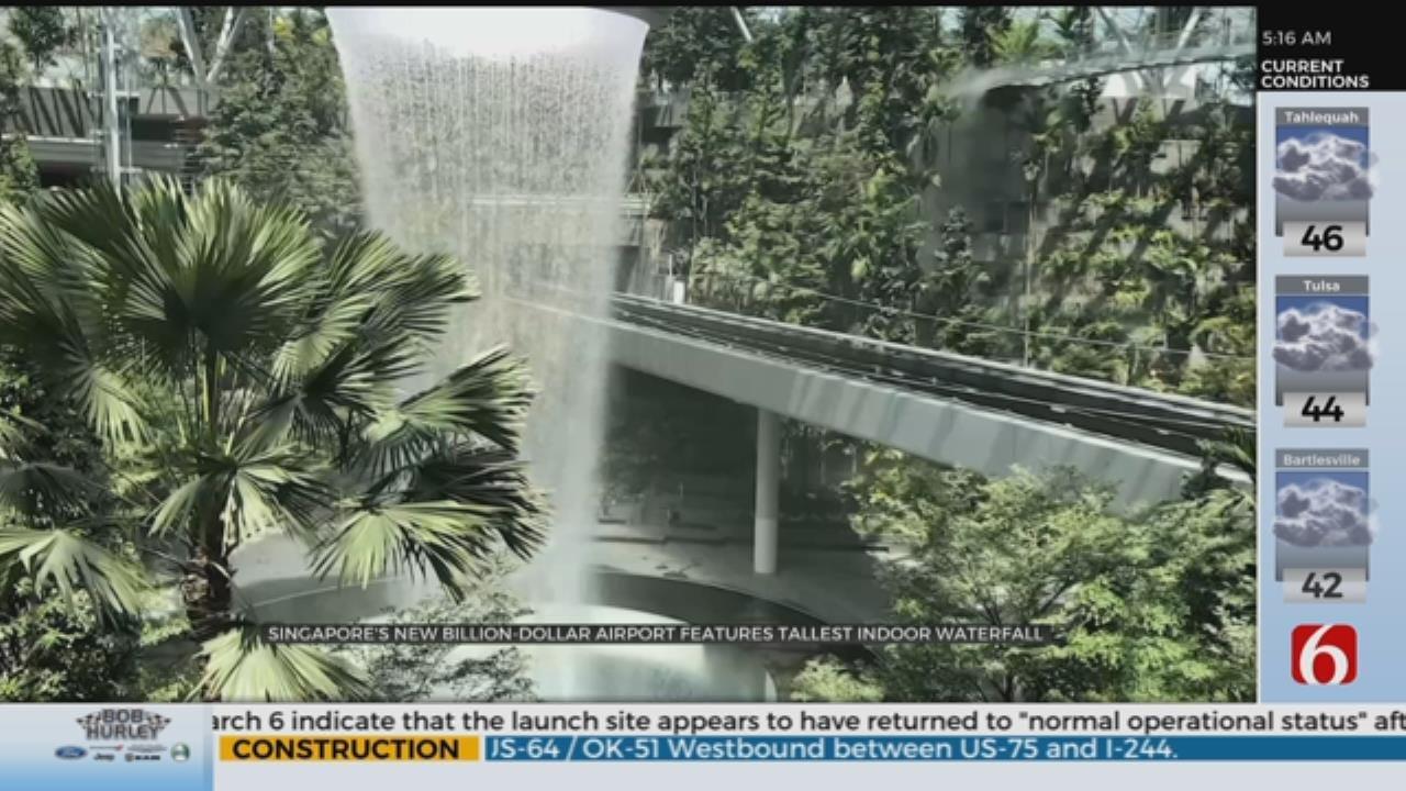 World's Tallest Indoor Waterfall Opening Soon