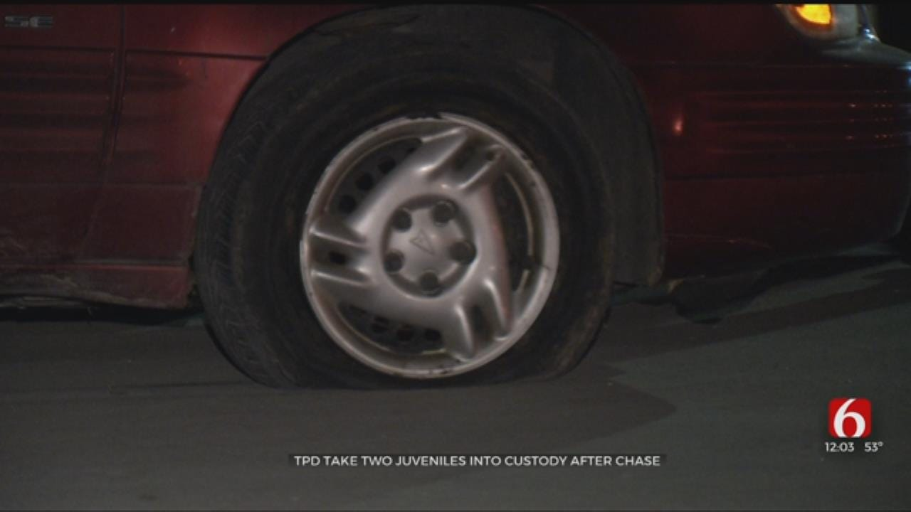Two Juveniles In Custody After Tulsa Chase