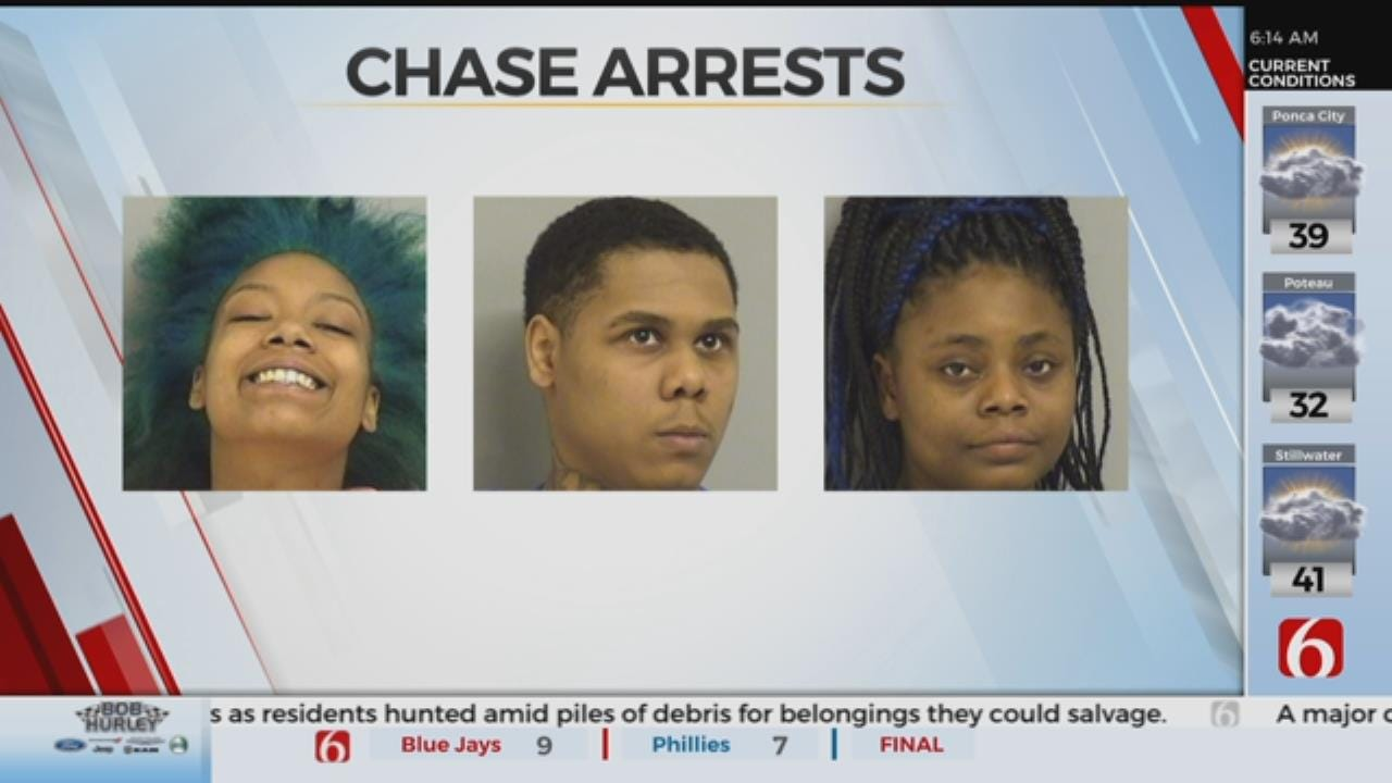 Three Arrested After Robberies, Chase in Owasso