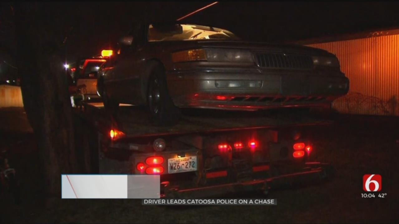 Catoosa Man Behind Bars After Leading Police On Chase