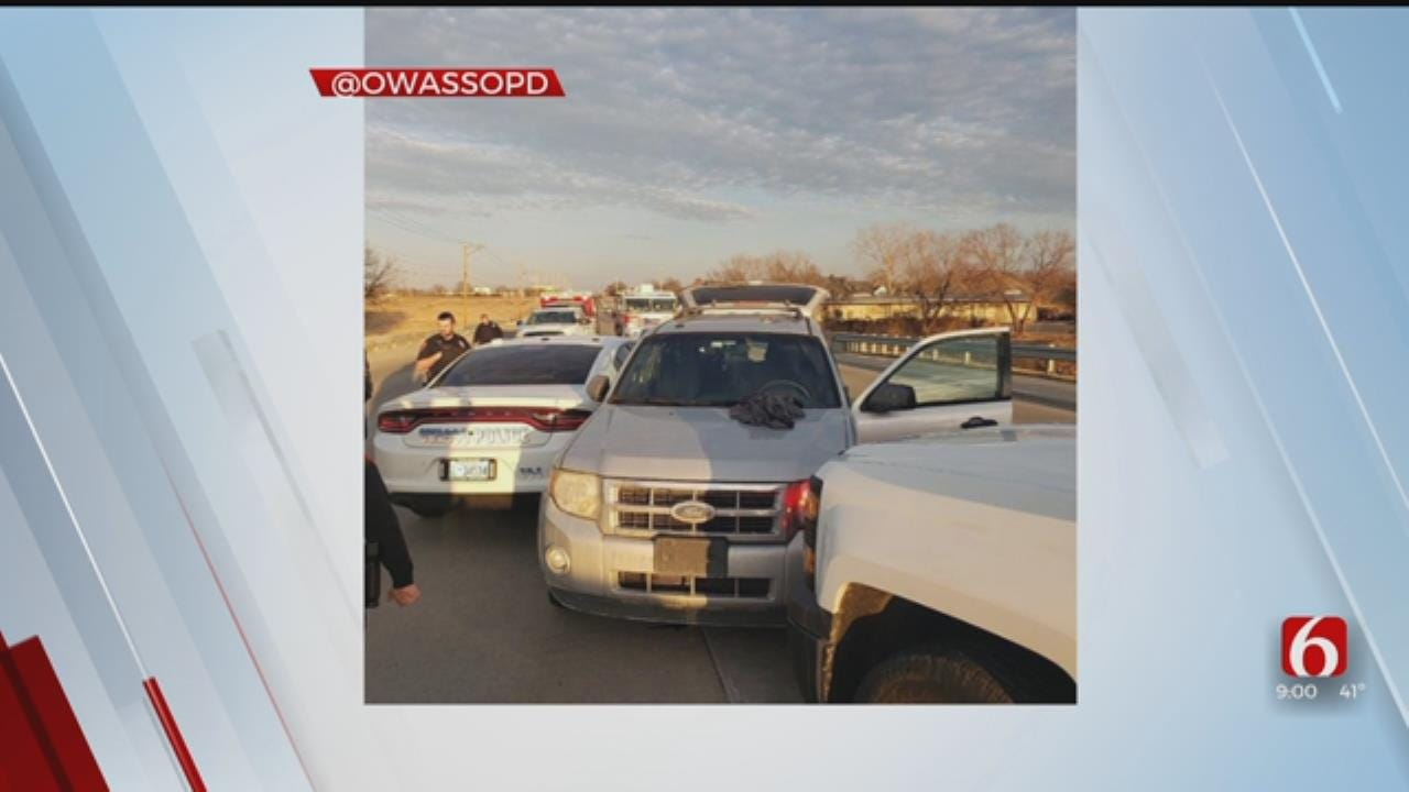 2 Officers Hurt, 3 Vehicles Damaged After Owasso Police Chase