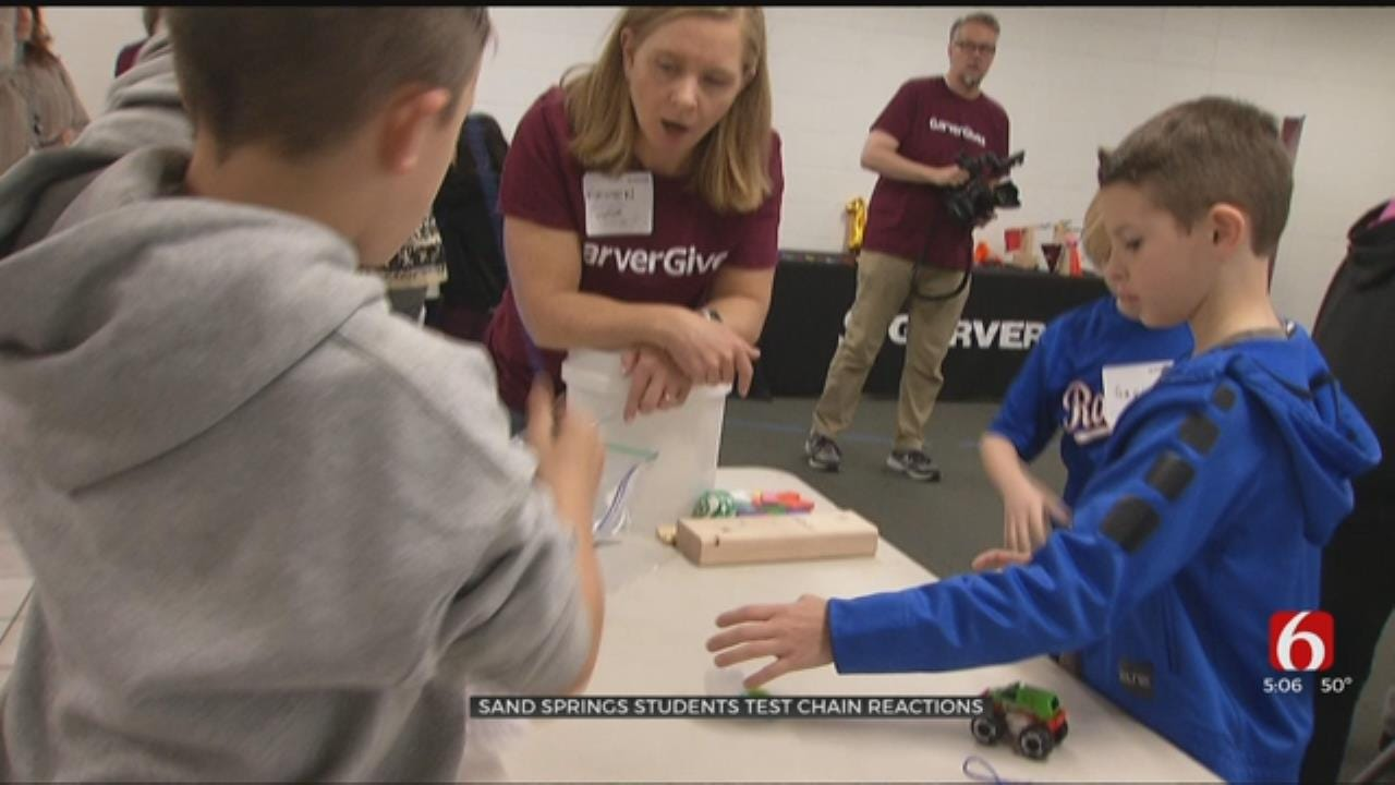 Sand Springs Students Test Chain Reactions With Professional Engineers