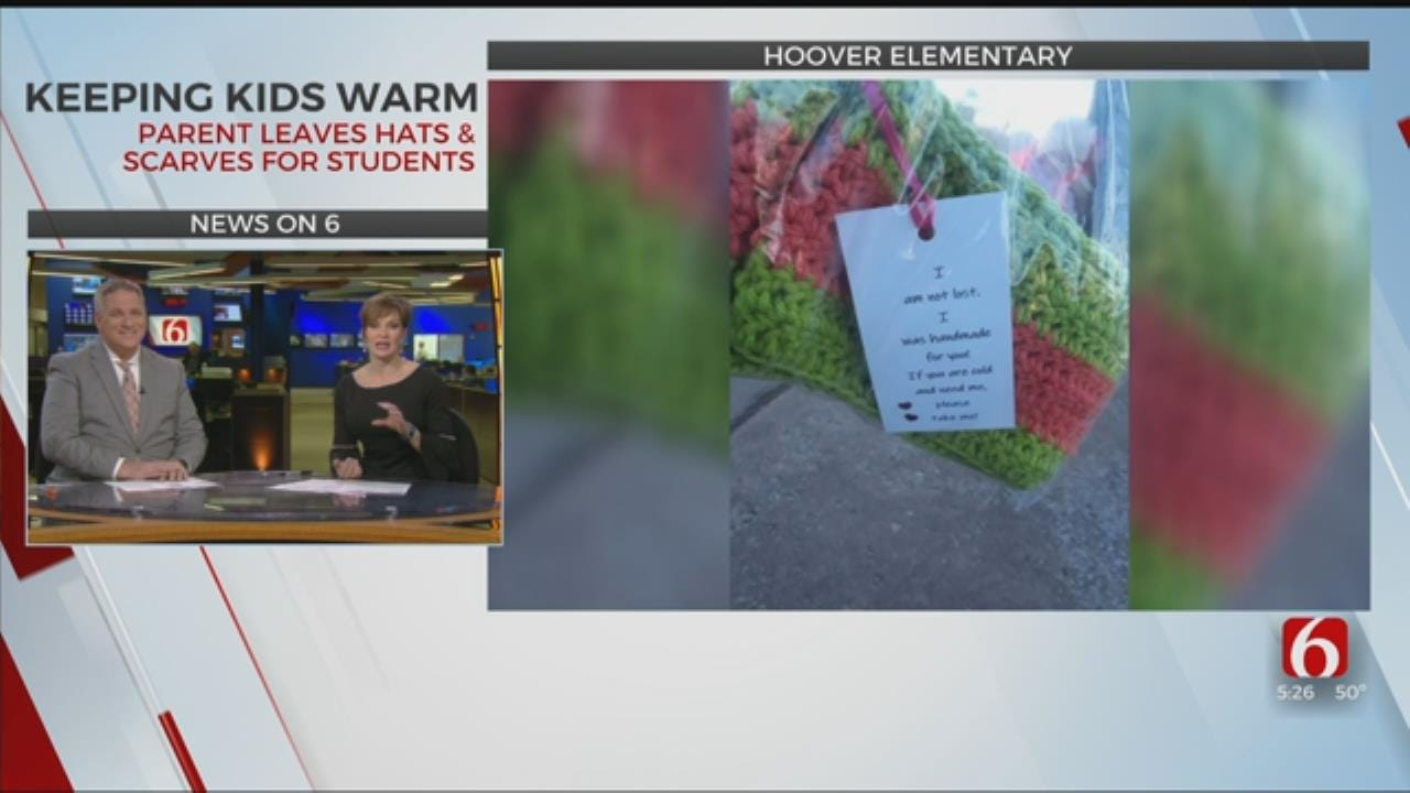 Hoover Elementary Parent Gives Away Handmade Winter Gear