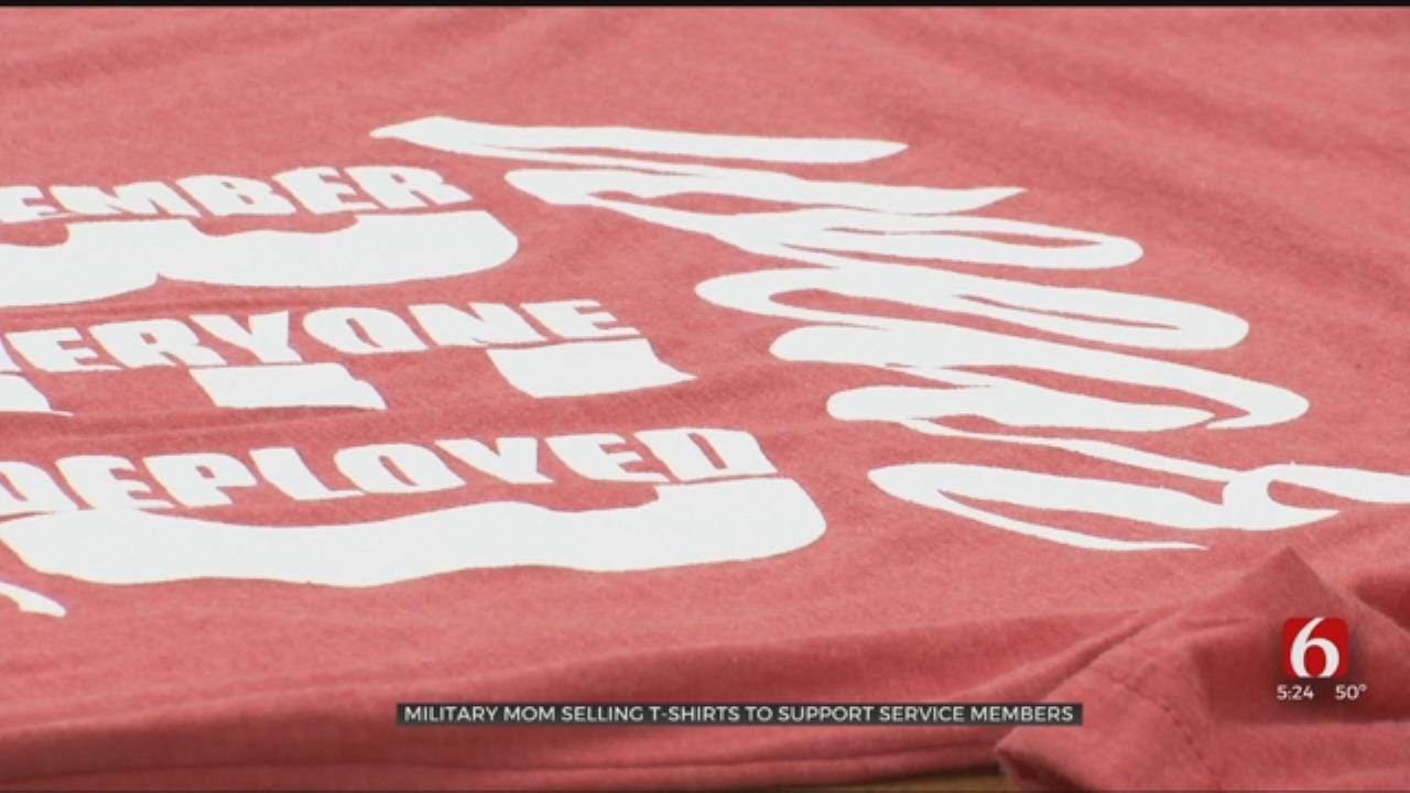 Oklahoma Military Mom Designs Shirts To Support The Troops