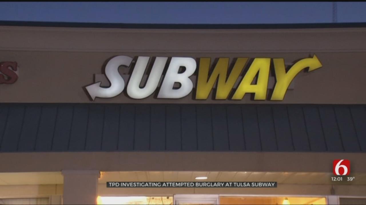 Tulsa Police Investigate Subway Break In