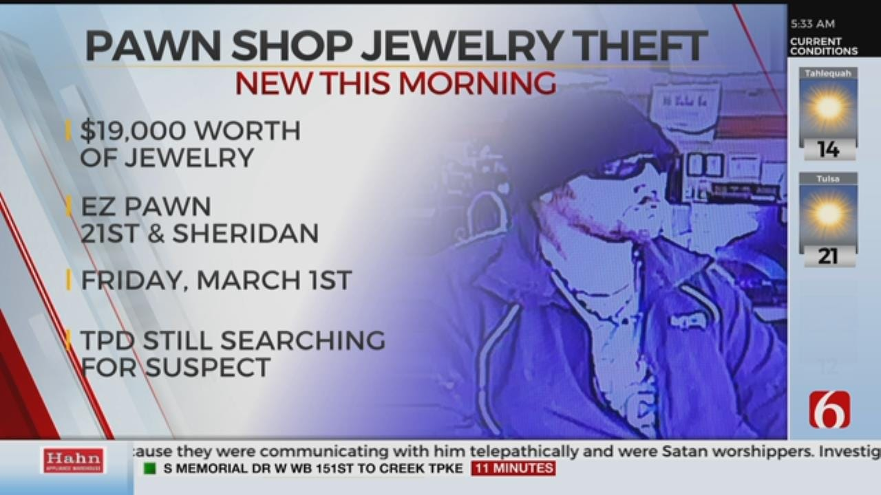 Tulsa Police Search For Suspect In Pawn Shop Theft