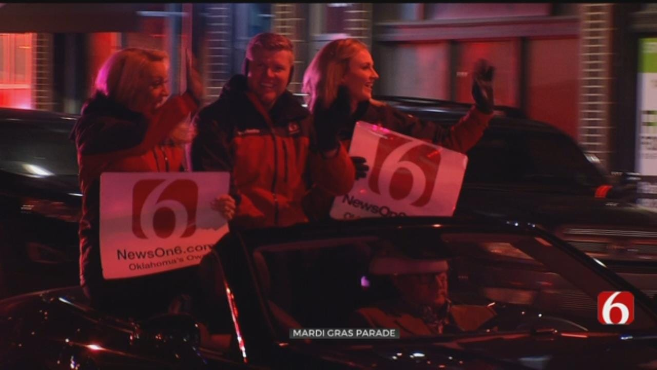 New On 6 Team Leads The Way For Tulsa Mardi Gras Parade