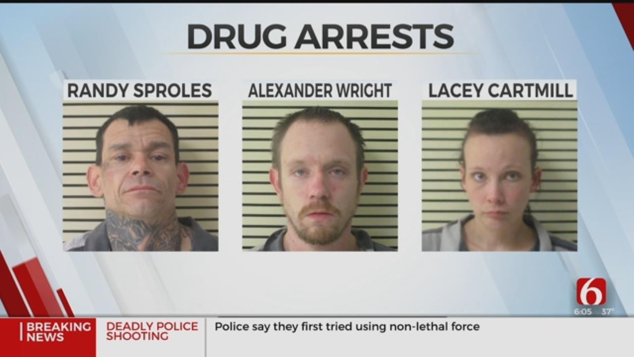 3 Arrested In Wagoner County Drug Bust
