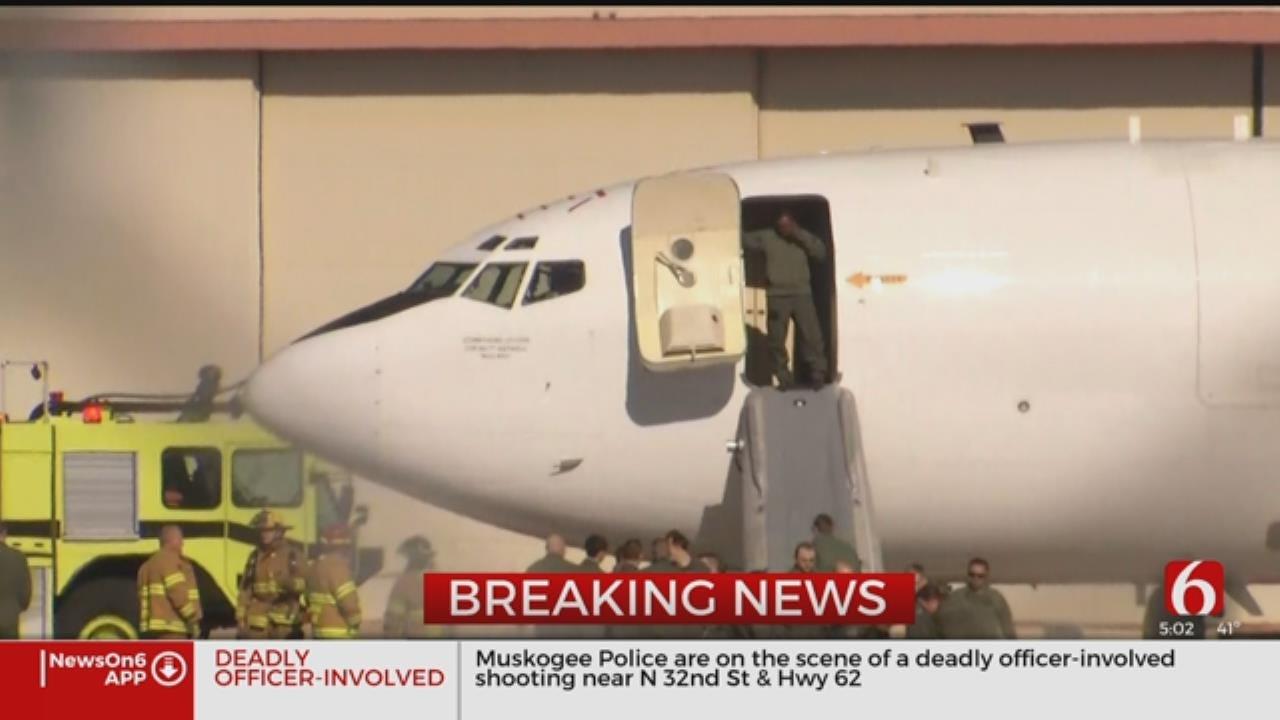 Navy Plane Makes Emergency Landing In Tulsa