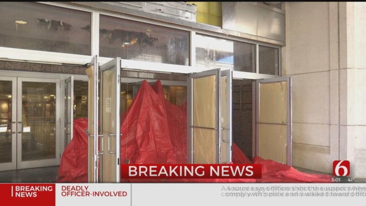 Old Macy's Store Floods Tulsa Promenade Mall