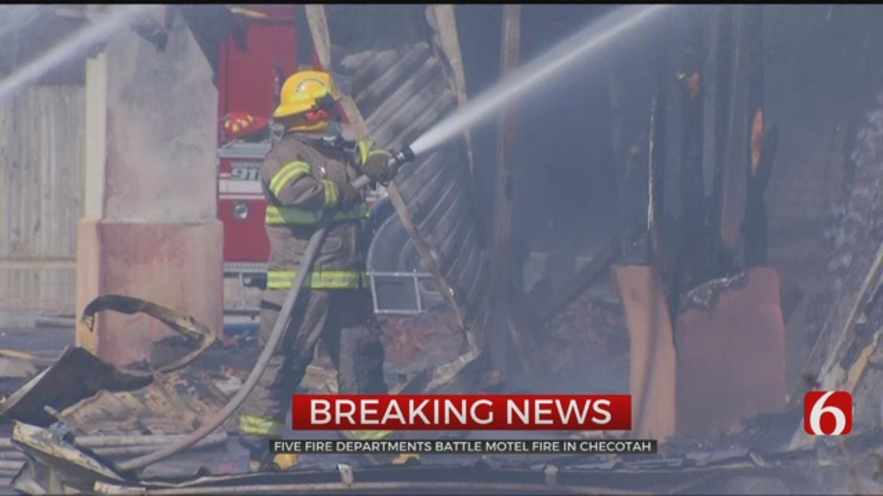 Crews Battle Fire At Checotah Motel, Sports Bar