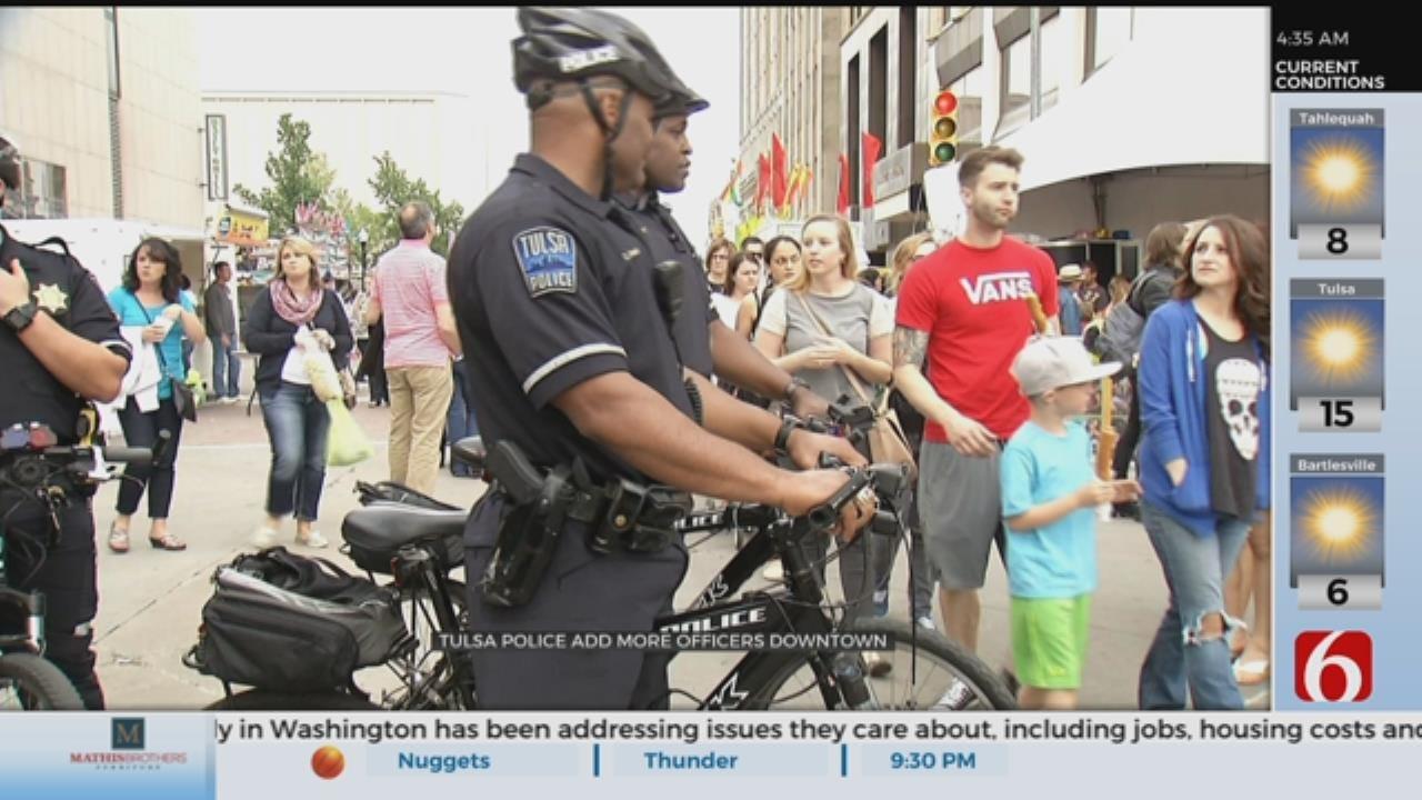More Police To Patrol Downtown Tulsa