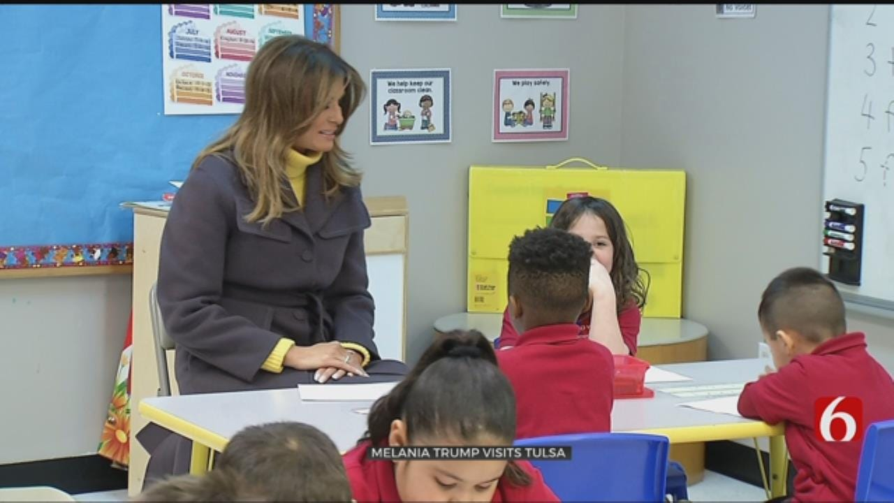 First Lady Visits Tulsa Elementary School