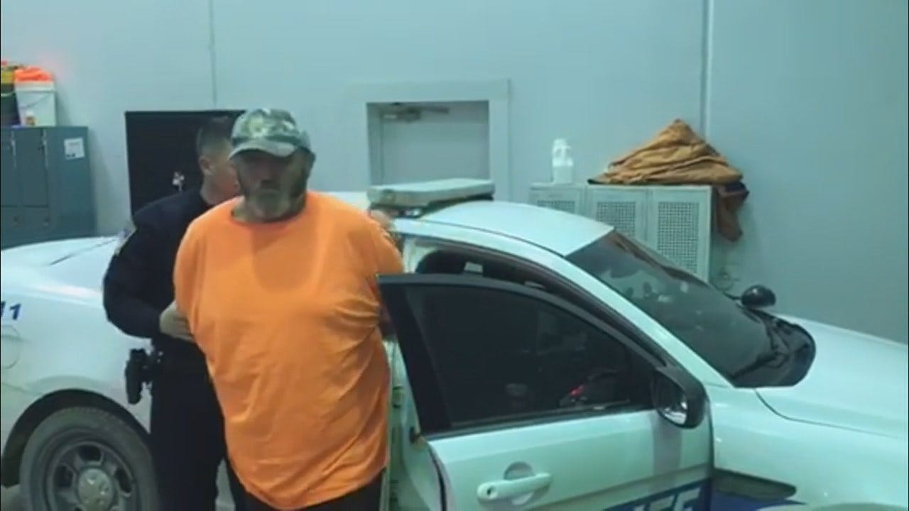 WATCH: Man Accused Of Sexually Assaulting Line Worker Taken To Rogers County Jail