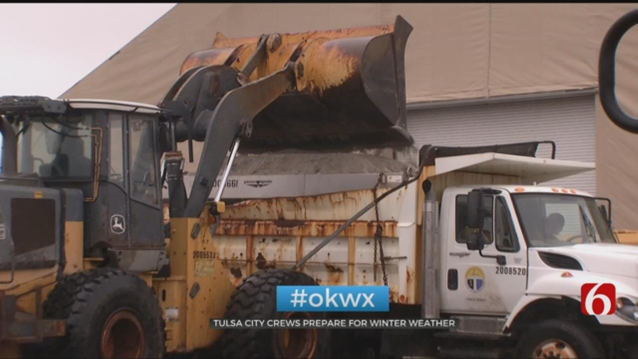 City Of Tulsa Prepares Salt Trucks For Winter Storm