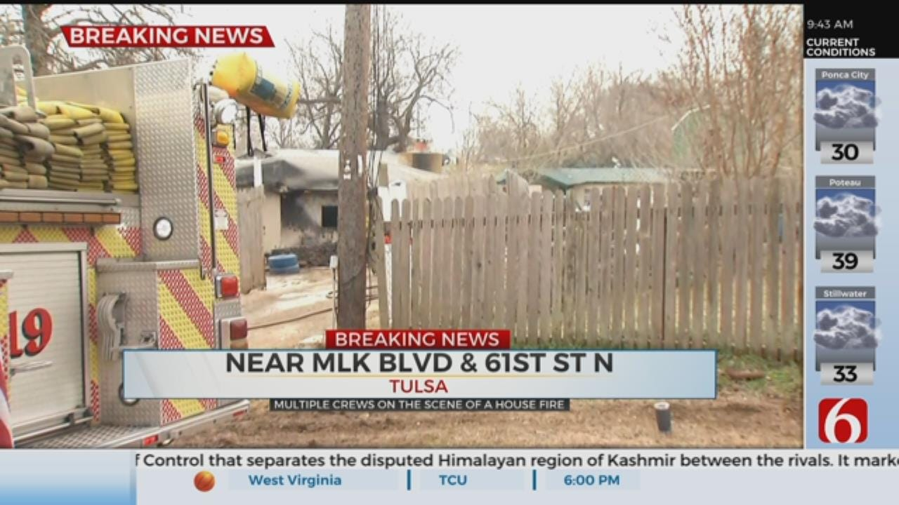 Turley And Tulsa Fire Crews Respond To House Fire